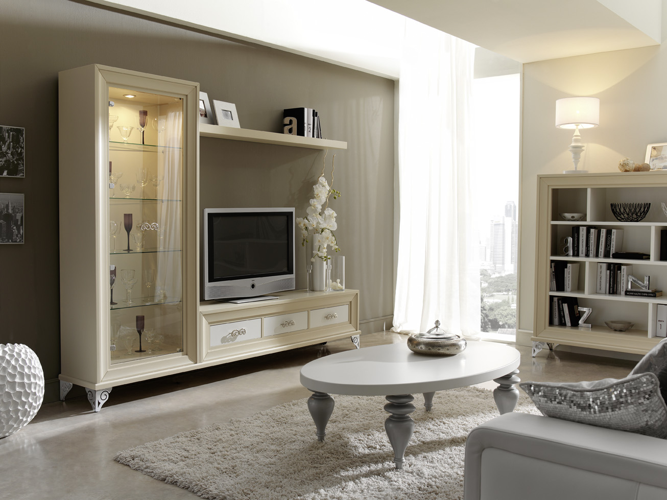 Sal n rom ntico muebles andaluc a for Muebles salon clasicos blancos