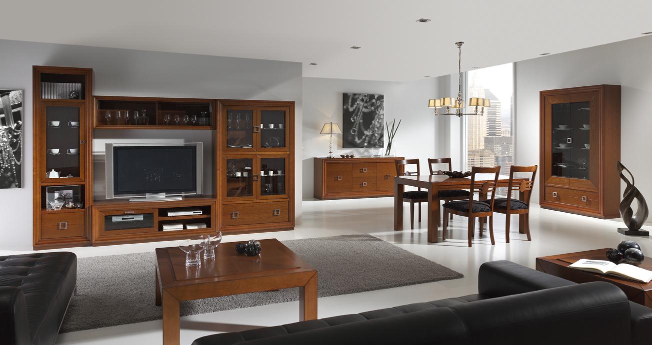 Salones y comedores estilo colonial muebles andaluc a for Salones mezcla clasico moderno