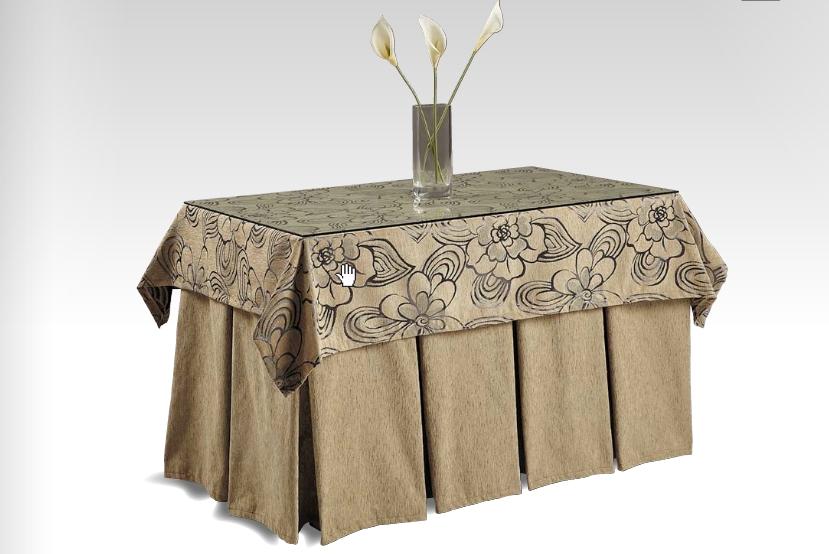 Ropa de mesa camilla rectangular fabulous cristal para - Como hacer una tarima para mesa camilla ...